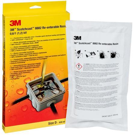 3M Scotchcast hars 8882 polybutadieen verwijderbaar, formaat D 600 g (659 ml), zonder gietnippel