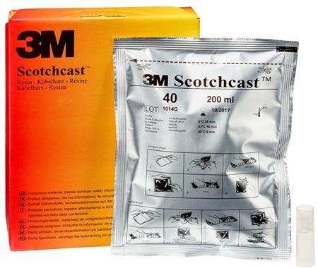 3M Scotchcast Hars polyurethaan 40B  230gr/ 200cc, shelflife 3 jaar