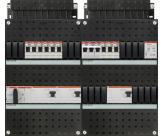 ABB HAF Installatiekast 330x440mm, 9-groepen 3-fase, 3xALS, HS 40A 4-polig, kookgroep 3-fase, met beltrafo