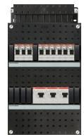 ABB HAF 9x achter 3x30mA, 3-f Installatiekast