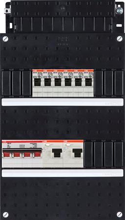 ABB HAF Installatiekast 6x achter 2x 30mA + HS, 3-fasen