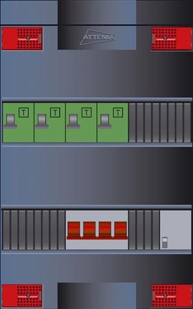 Click-mate XLVG, 4 groepen, 3-fase bedraad, 4 ALA, HS 40A 4P, met beltrafo, 330 kast