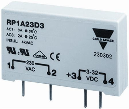 Carlo Gavazzi, solid-staterelais, 1 fase, 230V, 5.5A AC-1, 5A AC-3, stuurspanning 5-34VDC