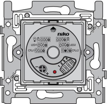Niko Flush Mounted Dimmer - Basis voor universele draaidimmer plus, 5-325 W