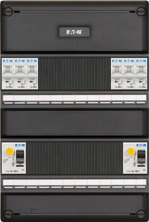Eaton installatiekast S55 FLEX, 3-fase, 6-groepen, 3 ALS, 2-polig, 64