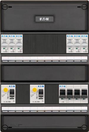 Eaton installatiekast S55 FLEX, 3-fase, 6-groepen, 2 ALS, 2-polig, HS 64