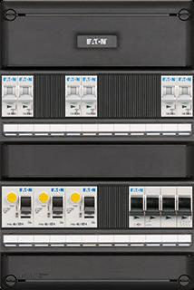 Eaton installatiekast S55 FLEX, 1-fase / 3-fase, 6 groepen 3 ALS HS 64