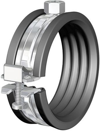 Flamco beugel BSA staal, inlage: rubber, 50 - 54mm, aansluitmoer M8