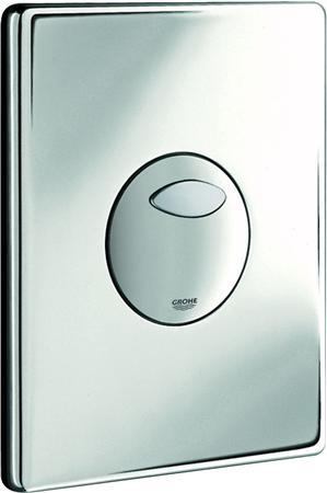 Grohe Solido eenknops mechanische bedieningsplaat spoelsysteem, kunststof, 197x156x24mm, chroom