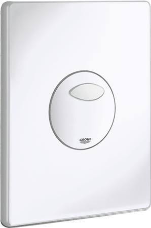 Grohe Solido eenknops mechanische bedieningsplaat spoelsysteem, kunststof, 197x156x24mm, alpine wit