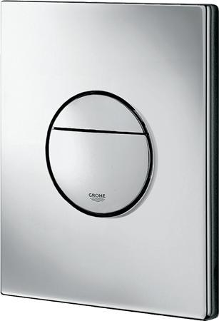 Grohe Nova Cosmopolitan tweeknops mechanische bedieningsplaat spoelsysteem, staal, 197x156x15mm, chroom