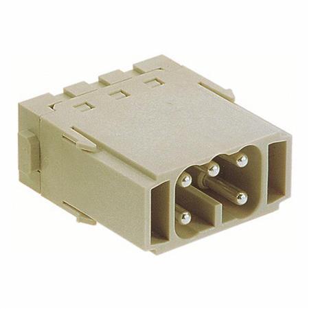Module 16A, 400V Han ES - Han-Modular - voor 5 contacten - cage-clampverbinding - male.