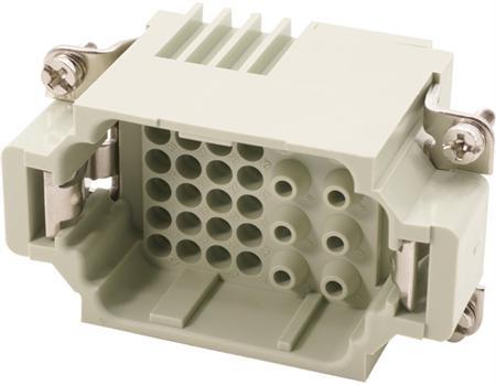 Binnenwerk Han-K 8/24 - male - grootte 10B - 8 hoofd-/24 hulpcon.+aarde - 400/160V, 16/10A - krimpv.