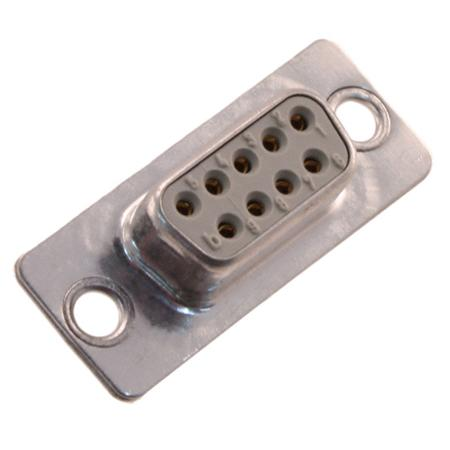 Connector D-Sub - female - 9P - metalen schacht - soldeerverbinding(turned contact) PL3 - InduCom.