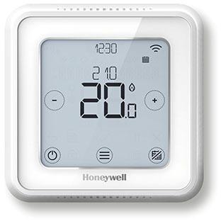 Honeywell Lyric T6 Wi-Fi smart thermostaat, bedraad voor wandmontage, universeel toepasbaar voor zowel aan/uit als Opentherm. wit