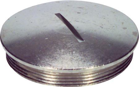 Jacob blindstop, M12 x 1,5mm, messing, vernikkeld, met O-ring