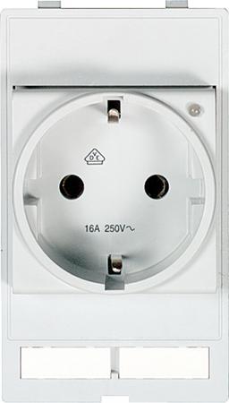 Murr Modlink MSDD Front panel-interface Stopcontact modul VDE 250V AC / 16 A