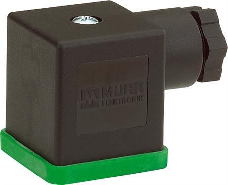 Murr ventielsteker 18mm 1,2,3,PE HAWA, vorm A 3p+e stekerkap, inclusief afdichting