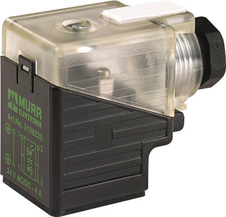 Murr ventielstekker A 18mm LED+ Z-diode 24VUC M16