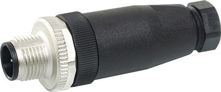 Murr M12 stekker recht  male 5polig 4-6  mm2