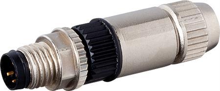 Murr MOSA M8 male recht field-wireabl Slimline, 3p, 0,14-0,34qmm