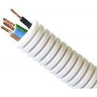 Preflex flexibele buis 16mm met draad 3G2,5 geel/groen, blauw, bruin, Eca