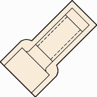 klemko nylon geïsoleerde eindverbinder D=3mm binnenmaat