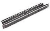Nexans, patchpaneel twisted pair, LANmark geschikt voor 24x Snap-In Black