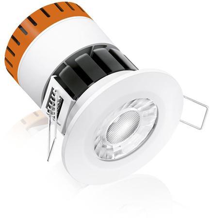 Solar Light E8 8W Fixed dimbaar Fire Rated IP65 LED Downlight 3000K, 580lm, CRI80, bundelbreedte 60°, 25.000uur, IP65