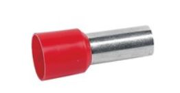 Cimco adereindhuls, 35mm2, hulslengte 16mm, geïsoleerd, koper, vertind, rood