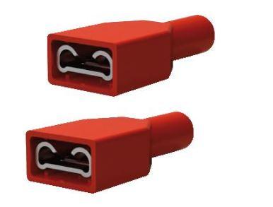 Draadbereik: 0,25-1,6 mm2, tongmaat 6,3x0,8 mm, rood