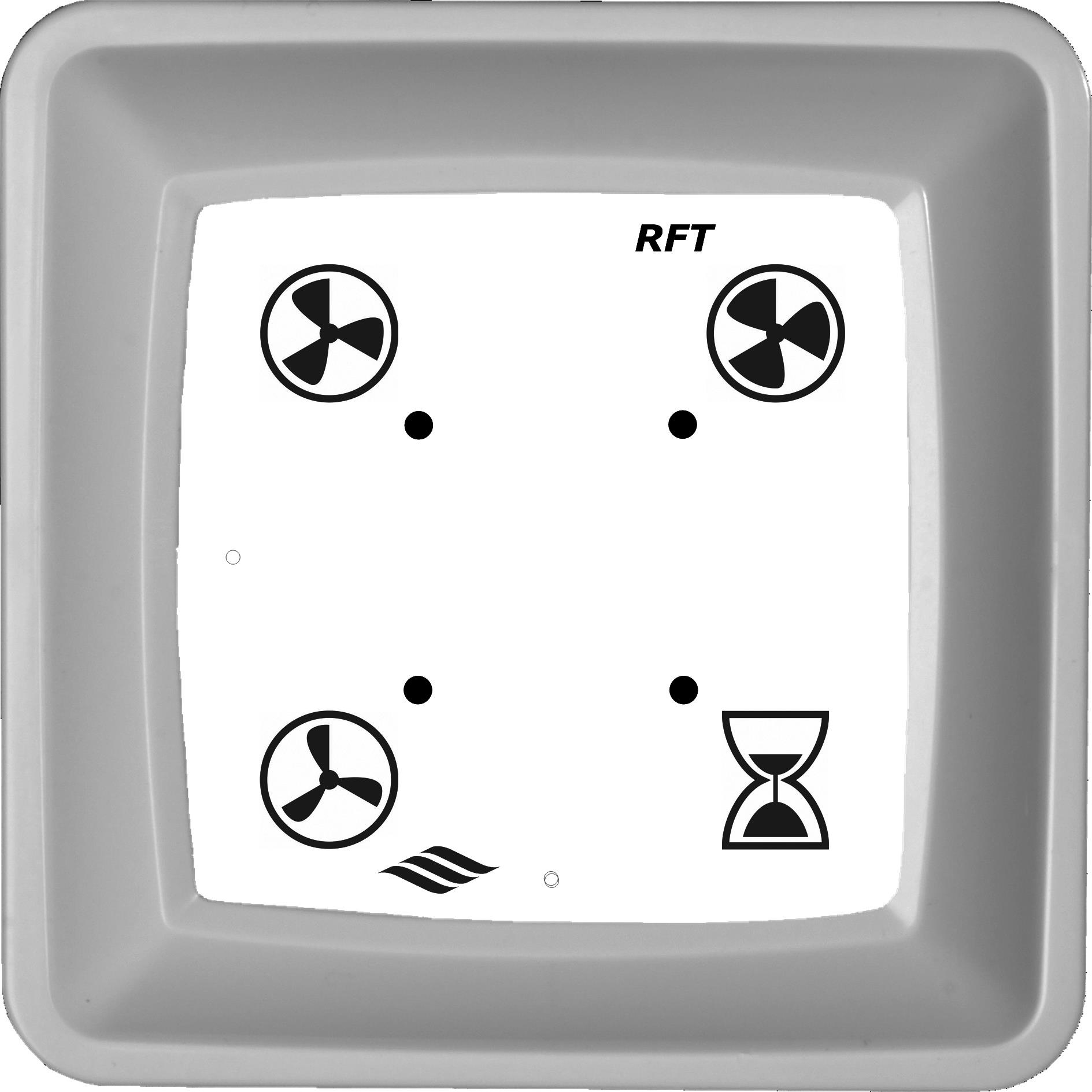 Itho Daalderop RFT Bedieningsschakelaar voor ventilator, laag/hoog/auto CO2, zender, toerentalregelaar, wit