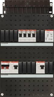 ABB HAF Installatiekast 330x220mm, 4-groepen 1-fase, 2xALS, HS 40A 2-polig, met beltrafo