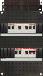 ABB HAF Installatiekast 330x220mm, 6-groepen 1-fase, 3xALS, HS 40A 2-polig