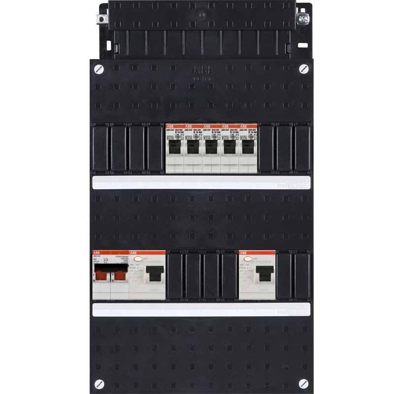 ABB HAF Installatiekast 330x220mm, 5-groepen 1-fase, 2xALS, HS 40A 2-polig