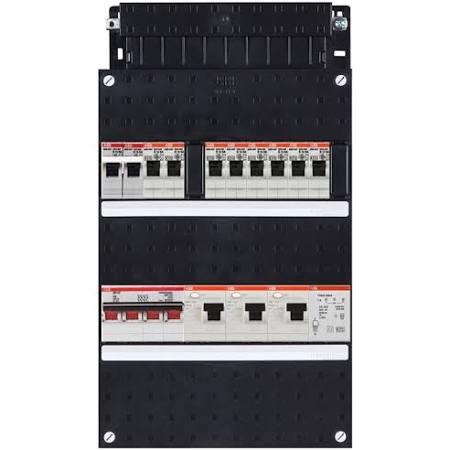 ABB HAF Installatiekast 330x220mm, 8-groepen 3-fase, 3xALS, HS 40A 4-polig, kookgroep 1-fase, met beltrafo