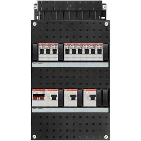 ABB HAF Installatiekast 330x220mm, 9-groepen 1-fase, 3xALS, HS 40A 2-polig