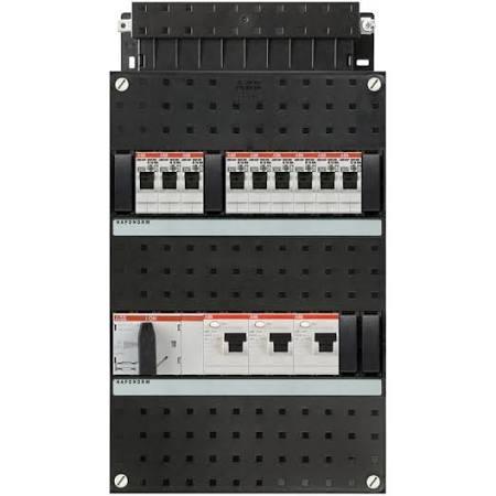 ABB HAF Installatiekast 330x220mm, 9-groepen 3-fase, 3xALS, HS 40A 4-polig