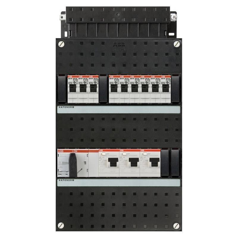 ABB HAF Installatiekast 440x220mm, 9-groepen 3-fase, 3xALS, HS 40A 4-polig