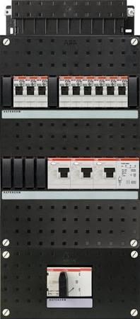 ABB HAF Installatiekast 440x220mm, 9-groepen 3-fase, 3xALS, HS 40A 4-polig, met beltrafo