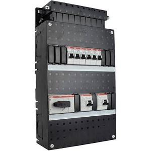 ABB HAF Installatiekast 330x220mm, 6-groepen 3-fase, 2xALS, HS 40A 4-polig