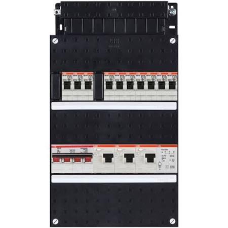 ABB HAF Installatiekast 330x220mm, 10-groepen 3-fase, 3xALS, HS 40A 4-polig, met beltrafo