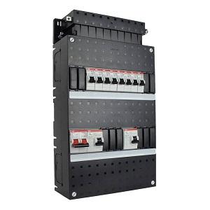 ABB HAF Installatiekast 330x220mm, 8-groepen 1-fase, 2xALS, HS 40A 2-polig