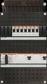 ABB HAF Installatiekast 330x220mm, 8-groepen 3-fase, 2xALS, HS 40A 4-polig