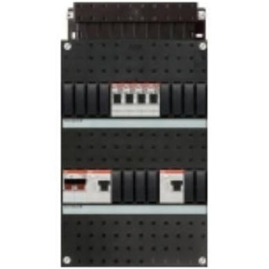 ABB HAF Installatiekast 330x220mm, 4-groepen 1-fase, 2xALS, HS 40A 2-polig