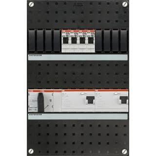ABB HAF Installatiekast 330x220mm, 4-groepen 3-fase, 2xALS, HS 40A 4-polig