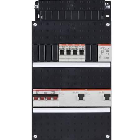 ABB HAF Installatiekast 330x220mm, 4-groepen 3-fase, 2xALS, HS 40A 4-polig, met beltrafo