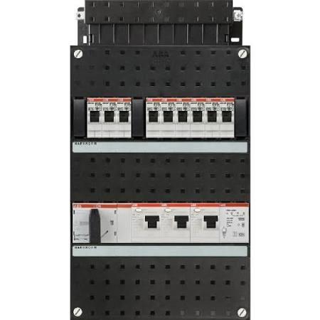 ABB HAF Installatiekast 330x220mm, 9-groepen 3-fase, 3xALS, HS 40A 4-polig, met beltrafo