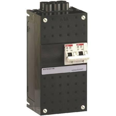 ABB HAF Installatiekast 220x110mm, 1-groepen 1-fase, 1 direct, kookgroep 1-fase