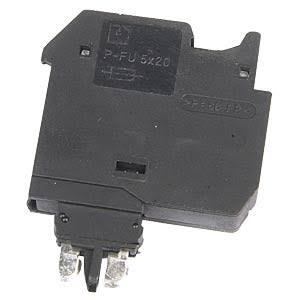 Phoenix Contact zekeringssteker, nom. stroom 6,3A, nom. spanning 500V, glaszekering G/5 x 20, kleur: zwart